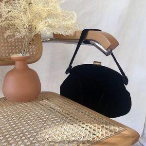 Vintage Velvet Clamshell Bag